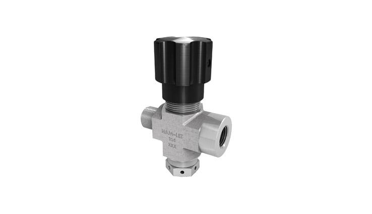 Needle valve with rupture disc unit