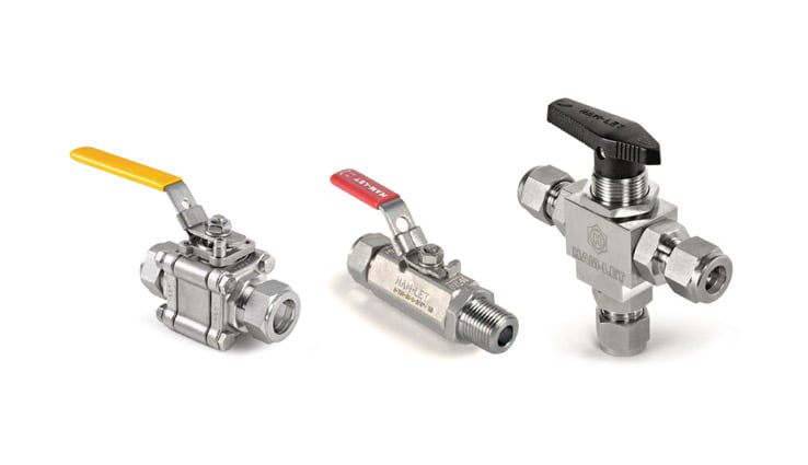 Instrumentation ball valves medium and high pressure